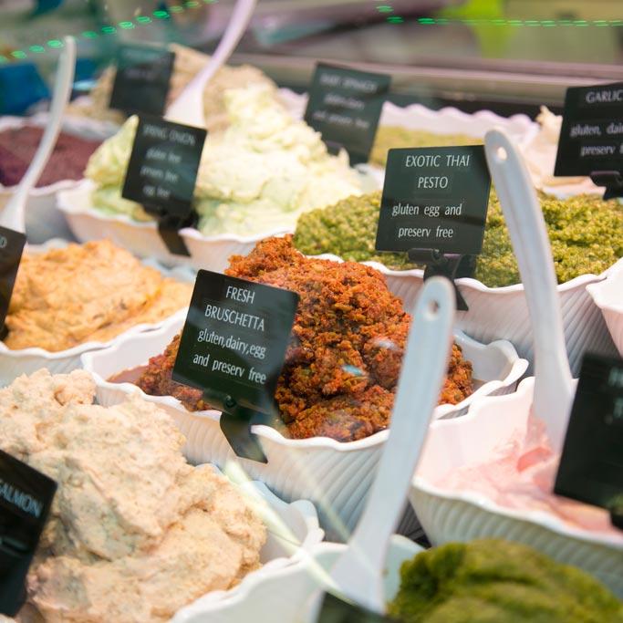 Stand marché alimentaire de Prahan